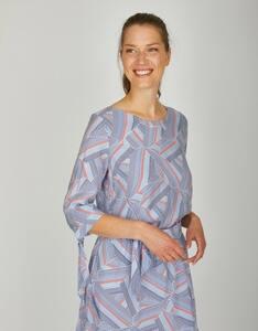 Via Cortesa - leichtes Blusenshirt mit bunt gestreiftem Muster