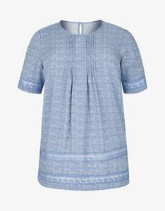 Thea - Blusenshirt mit Spitze und Biesen auf reiner Viskose
