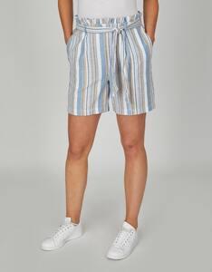 Bexleys woman - Baumwoll-Leinen-Shorts im Streifendessin