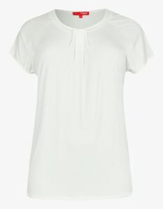 Thea - Shirt mit gelegten Falten am Ausschnitt