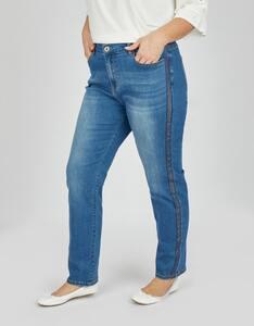 Thea - Jeans mit Galonstreifen, 5-Pocket