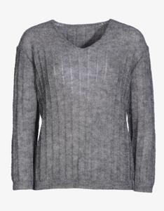 MY OWN - leichter Pullover mit breitem Ripp-Strick-Muster