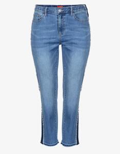 Thea - 5-Pocket Jeanshose mit Galonstreifen