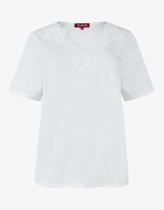 Thea - unifarbenes Shirt mit Spitze