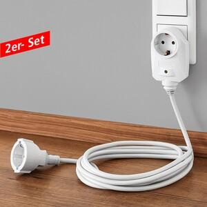 Powertec Electric 3 m Verlängerung - 2er-Set