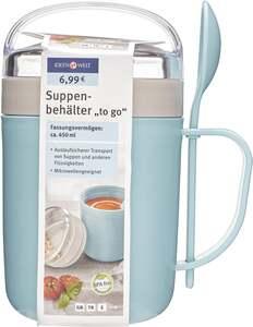 """IDEENWELT Suppenbehälter """"to go"""" blau/grau"""