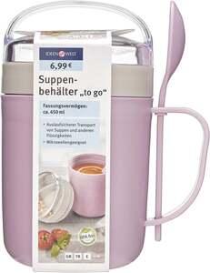 """IDEENWELT Suppenbehälter """"to go"""" beere/grau"""