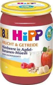 HiPP Bio Frucht & Getreide Himbeere in Apfel-Bananen-Müesli