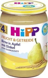 HiPP Bio Frucht & Getreide Birne in Apfel mit Dinkel