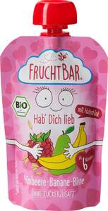 FruchtBar Bio Fruchtpüree Himbeere, Banane & Birne