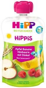 HiPP Bio Hippis Apfel-Banane-Himbeere mit Dinkel