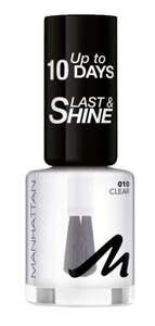 Manhattan Last & Shine Nail Polish 010 Clear