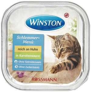 Winston Schlemmer-Menü reich an Huhn in Karottensauce