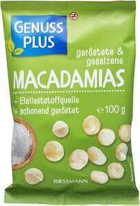 GENUSS PLUS geröstete & gesalzene Macadamias