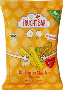 FruchtBar Bio Knusper-Stäbchen Mais-Käse