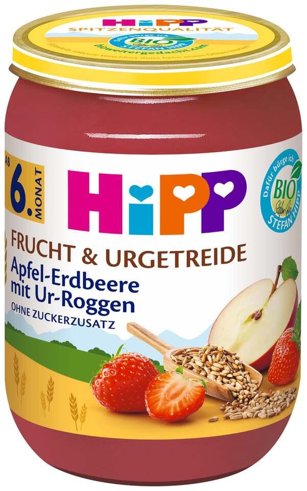 HiPP Bio Frucht & Urgetreide Apfel-Erdbeere mit Ur-Roggen