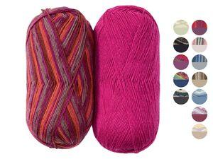 CRELANDO® Sockenwoll-Sortiment, für 2 Paar Socken