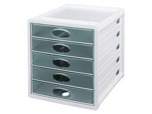 UNITED OFFICE® Schubladenbox, mit 5 Schüben (einfarbig)