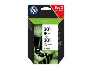 HP Druckerpatronen HP 301 Schwarz und Farbe
