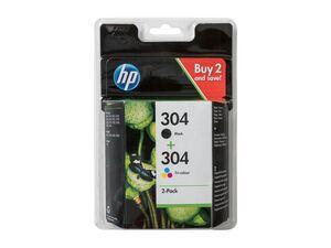 HP Druckerpatronen HP 304 Schwarz und Farbe