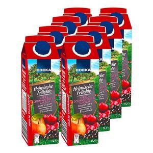 Fruchtstern Heimische Früchte Apfel-Kirsch-Johannisbeer 1 Liter, 8er Pack