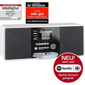 22-237-00 IMPERIAL DABMAN i200 CD Internet & DAB+ Stereo Radio, Spotify Connect weiß