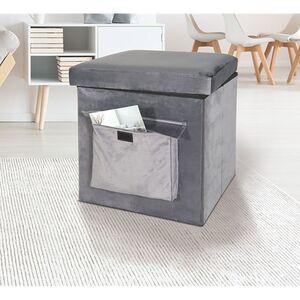 Sitz- und Aufbewahrungsbox, grau