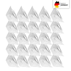 Atemschutzmaske FFP2 LP2 Kopfband 25er-Set weiß Made in Germany