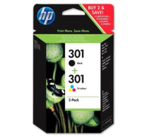 HP 301 Multipack, schwarz und farbig