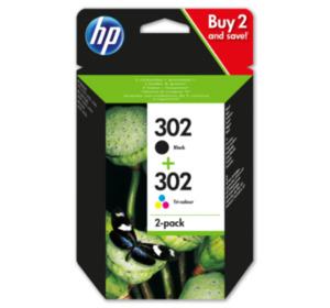 HP 302 Multipack, schwarz und farbig