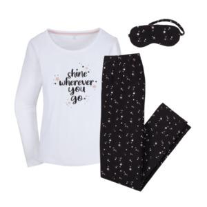 QUEENTEX     Schlafanzug mit Schlafmaske