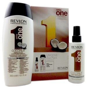 Revlon Uniq one Coconut Shampoo 300 ml + Treatment 150 ml Set für Damen