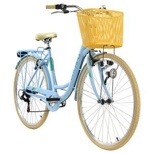 KS Cycling Cityrad 6-Gänge Cantaloupe 28 Zoll blau für Damen