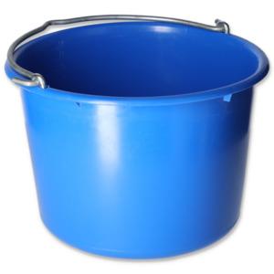 Baueimer 12 l kranbar blau