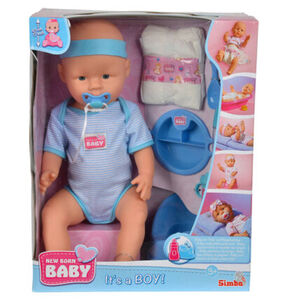Simba Babypuppe New Born Baby - Junge