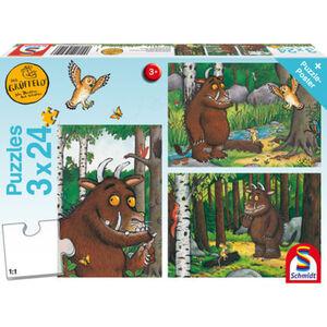 Schmidt Spiele Puzzle-Box mit Poster: Mein Freund der Grüffelo, 3x24 Teile