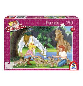 """Schmidt Spiele Puzzle """"Bibi und Tina Am Steinbruch"""", 150 Teile"""
