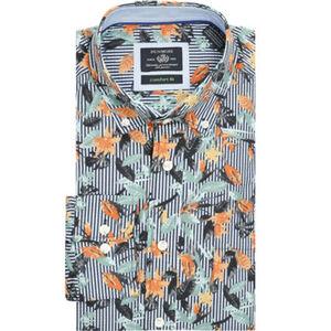 Dunmore Hemd, langarm, geblühmt, für Herren
