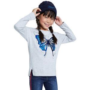 Desigual Langarmshirt, Pailletten, seitliche Schlitze, für Mädchen