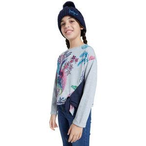 Desigual Langarmshirt, Knotendetail, Print, für Mädchen