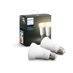 Philips Hue LED-Lampe 'Hue White' E27 9,5 W Doppelpack