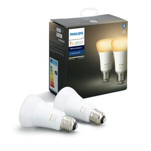 Philips Hue LED-Lampe 'Hue White Ambiance' E27 9,5 W Doppelpack