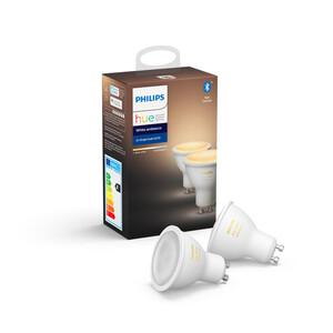 Philips Hue LED-Lampe 'Hue White Ambiance' GU10 5 W Doppelpack