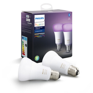 Philips Hue LED-Lampe 'Hue White & Color Ambiance' E27 5 9,5 W Doppelpack