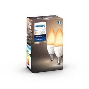 Philips Hue LED-Lampe 'Hue White Ambiance' E14 6 W Doppelpack