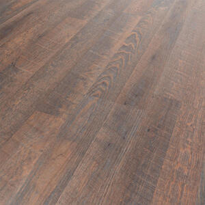 Venda Designboden dunkelbraun per paket , Rustic Hickory , Kunststoff , 19x0.5x121 cm , matt, Dekorfolie, geprägt , abriebbeständig, antistatisch , 006251003201