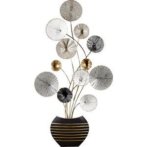 Ambia Home Wanddeko metall , 18Sma1165 , Schwarz, Silberfarben, Weiß, Goldfarben , 45x91x6 cm , lackiert , rostfrei , 0049280023