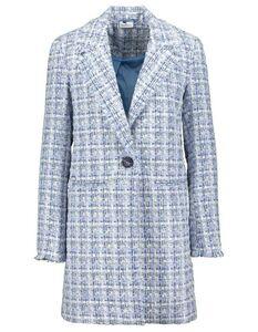Damen Mantel mit Hahnentritt-Muster