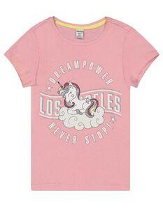Mädchen T-Shirt mit Einhorn-Print