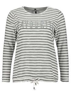 Damen Sweatshirt mit Pailletten-Besatz